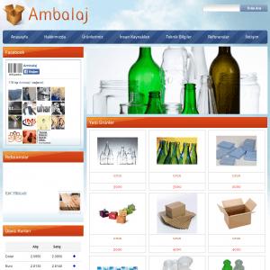 ambalaj web sitesi tasarımı