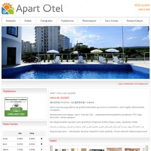 apart otel web sitesi tasarımı