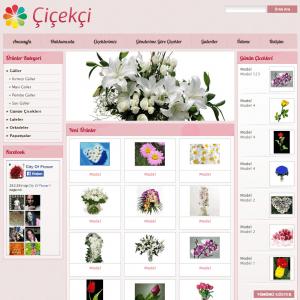 çiçekçi web sitesi tasarımı