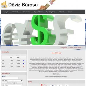 döviz web sitesi tasarımı