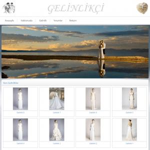 gelinlikçi web sitesi tasarımı