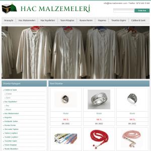 hac malzemeleri web sitesi tasarımı