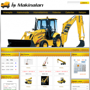 iş makinaları web sitesi tasarımı